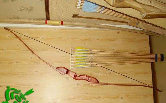 фото.готовый лук из лыж